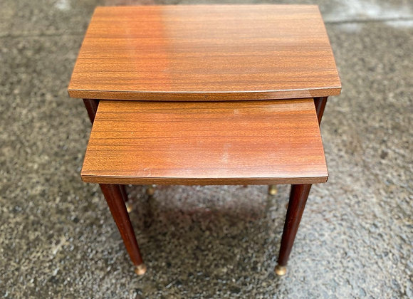 Stunning 2 Piece Retro Mid-Century Nest of Tables in Excellent Condition