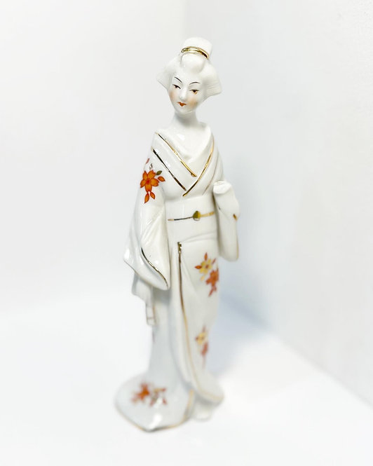 Collectible Vintage Hand-Painted Porcelain Geisha Figurine by 'Hall' (Japan)