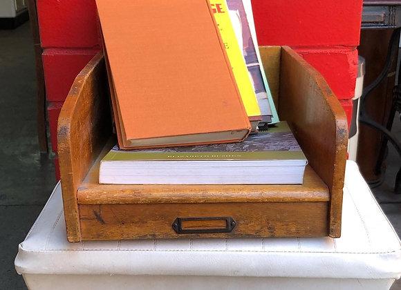 Solid Vintage Wooden Desk Organiser