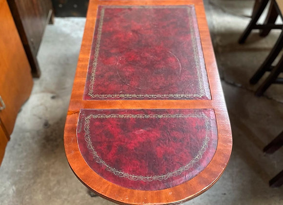 Outstanding Regency Style Mahogany Coffee Table with Leather Top