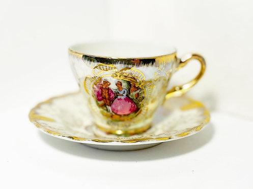 Vintage Hand-Painted Fine Porcelain 12 Piece Tea Set (Japan)