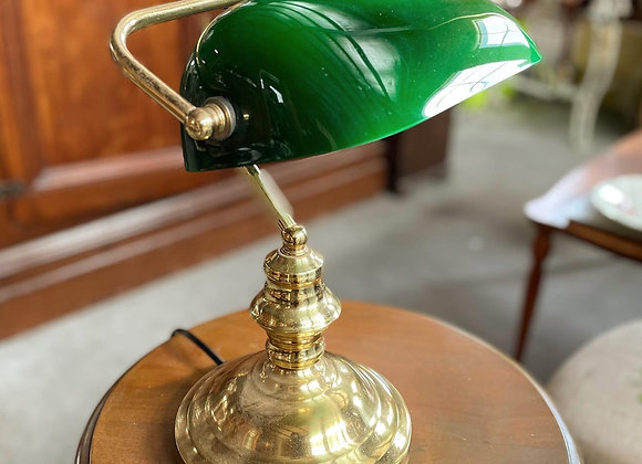 Stunning Vintage Green Shade Bankers Table Lamp