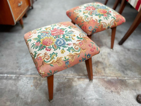A Pair of Beautiful Vintage Stools with Unique Legs