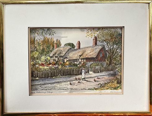 Anne Hathaway's Cottage Print Signed by John Corvin