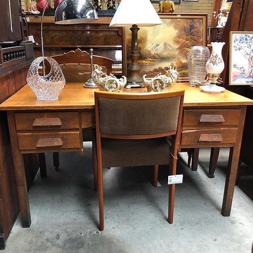 Large Extremely Solid Oak Desk