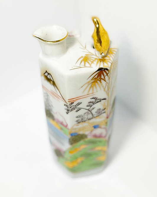 Very Fine Vintage 'Kutani' Hand-Painted Porcelain Pitcher/Vase