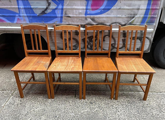 A Set of 4 Solid Vintage Good Quality Chairs