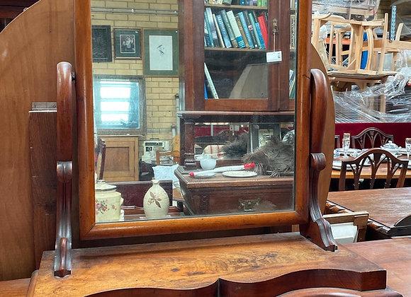 Beautiful Solid Victorian Cedar Dressing Mirror in Good Condition