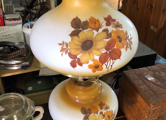 Vintage Floral Lamp in a Good Condition