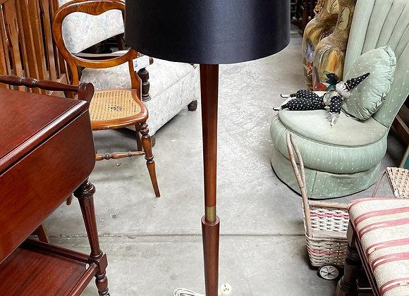 Rare Mid-Century Retro Teak Low Standing Lamp in Perfect Working Condition