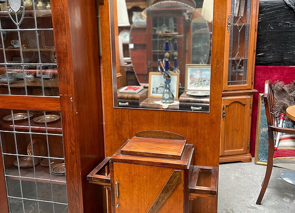 Antique Art Deco Hall Stand with Mirror