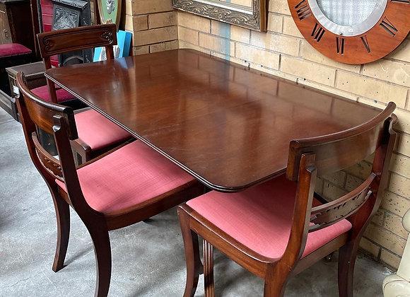 Outstanding Set of Rectangular Regency Dining Table & 4 Matching Regency Style C