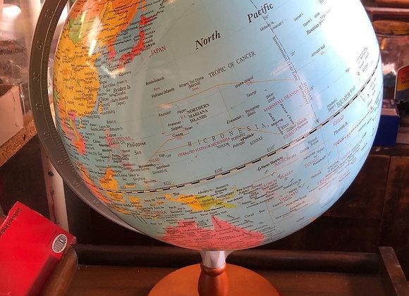 Rotating Vintage World Globe