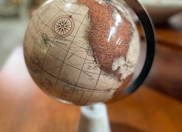Beautiful Vintage Decorative Rotating World Map Globe