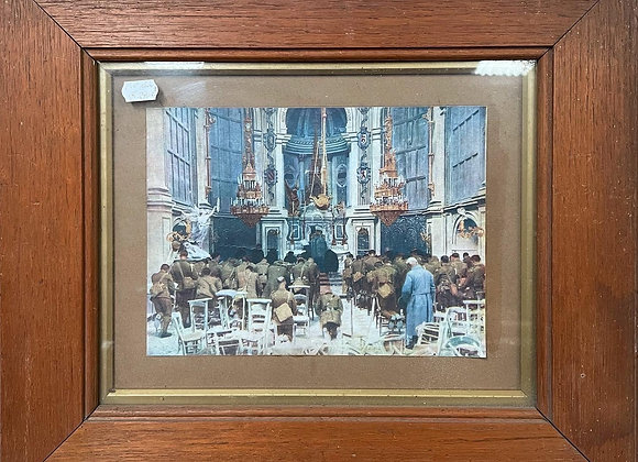 A Pair of Framed Artworks of Scottish Soldiers at the Funeral