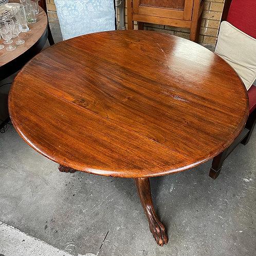 Round Vintage Cedar Occasional Table