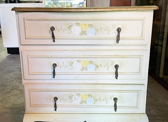 Elegant Floral 3 Drawer Chest of Drawers