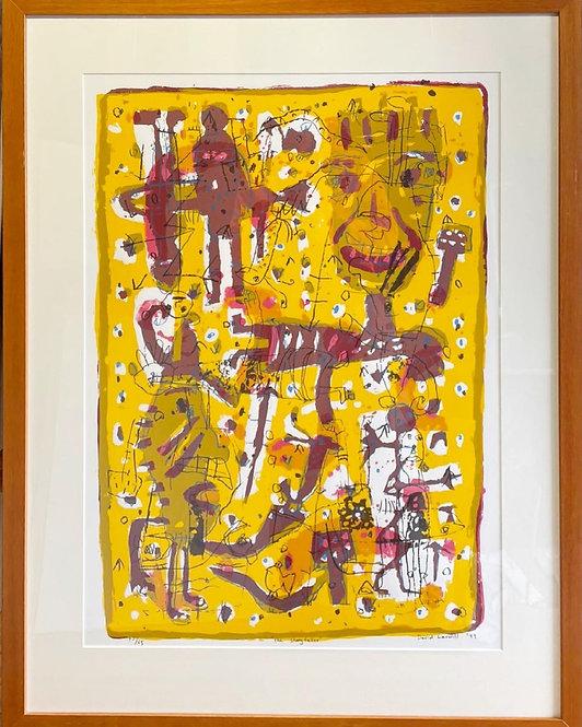 Playful David Larwill Prints from 1999 with Original Signatures