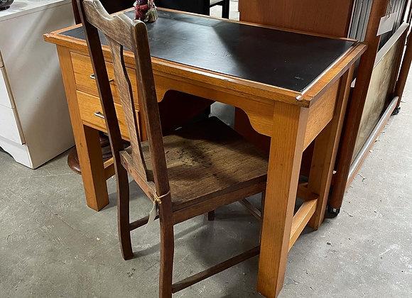Beautiful Small Vintage Oak Office Desk