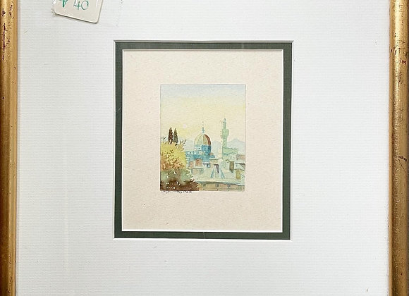 Small Vintage Watercolour Painting signed by Unknown Artist