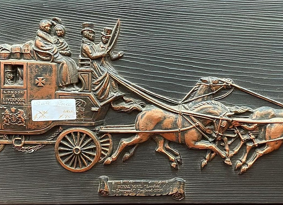 """Antique Plaque 'ROYAL MAIL """"London to Liverpool"""" England 1836'"""