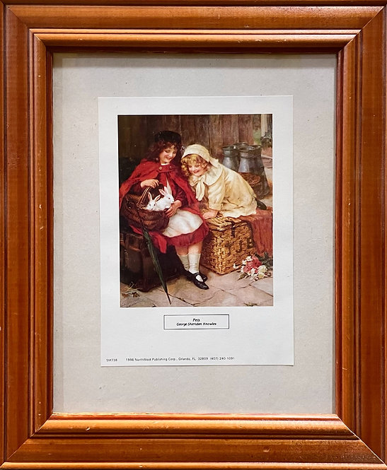 Gorgeous Little Vintage Print of 'Pets' by George Sheridan Knowles