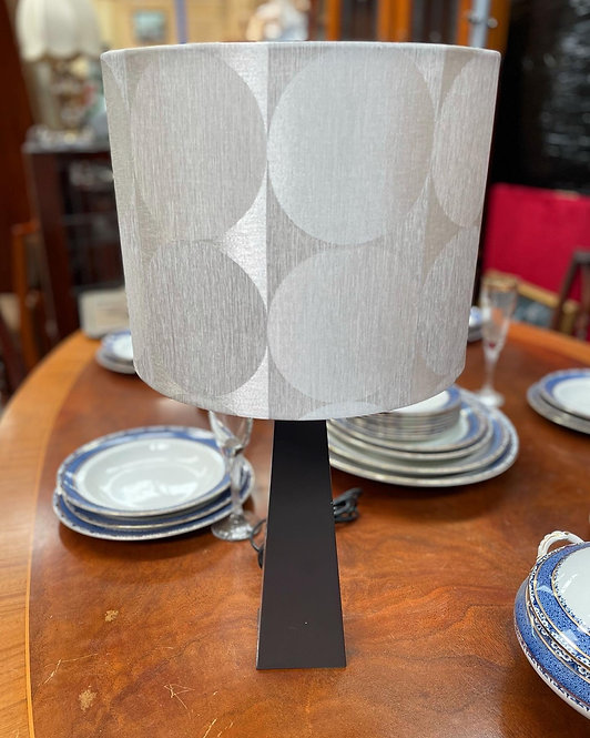 Retro Tapered Table Lamp with Modern Shade