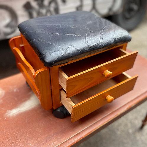Pretty Little Vintage 2 Drawer Shoe Box on Castors