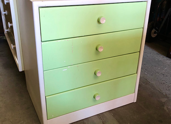 Small 4 Drawer Retro Chest of Drawers