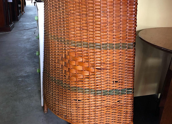 Beautiful Corner Bamboo Basket in a Really Good Condition