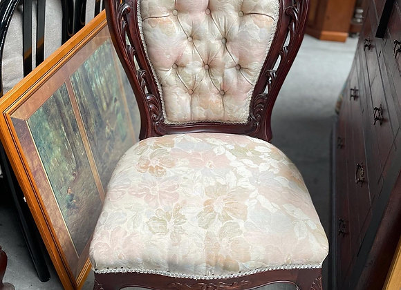 Elegant Hand-Carved Louis XV Chair with Cabriole Legs