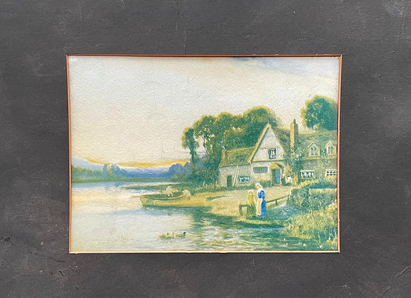 Vintage Print of the Countryside in Original Condition