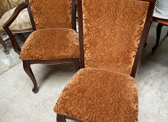 A Gorgeous Set of 6 Upholstered Dining Chairs + 2 Carvers/Elbow Chairs