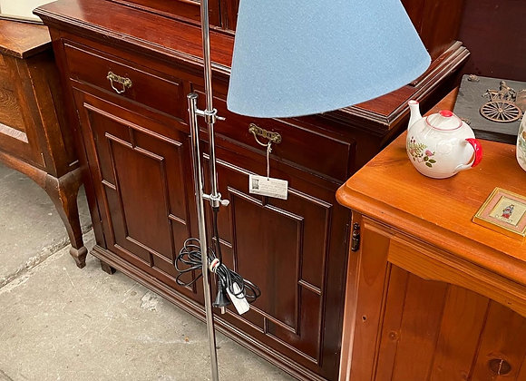 Beautiful Adjustable Chrome Standing Reading Lamp in a Good Condition