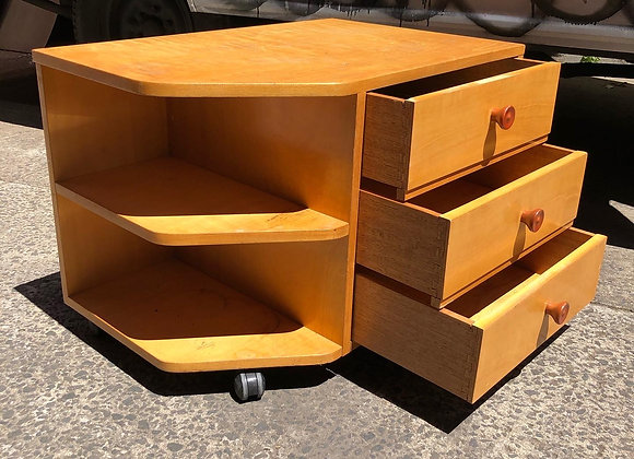 Retro Wooden Occasional Cabinet with Casters