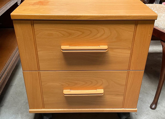A Pair of 2 Mid-Century Retro Bedside Tables