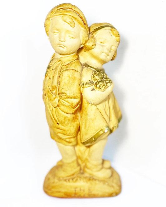 "Original Collectible Mattei Bross & Co Chalkware Figurine ""The Tiff"" (Australia)"