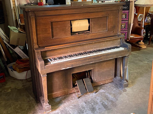 Vintage Pianola/Piano Player in Original Working Condition with 20 Pianola Rolls