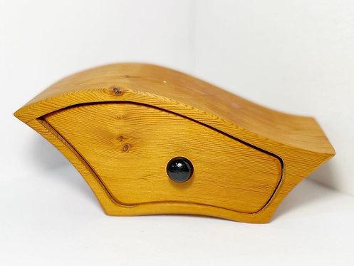 Vintage Tasmanian Huon Pine Trinket Box manufactured by Malcolm Nash