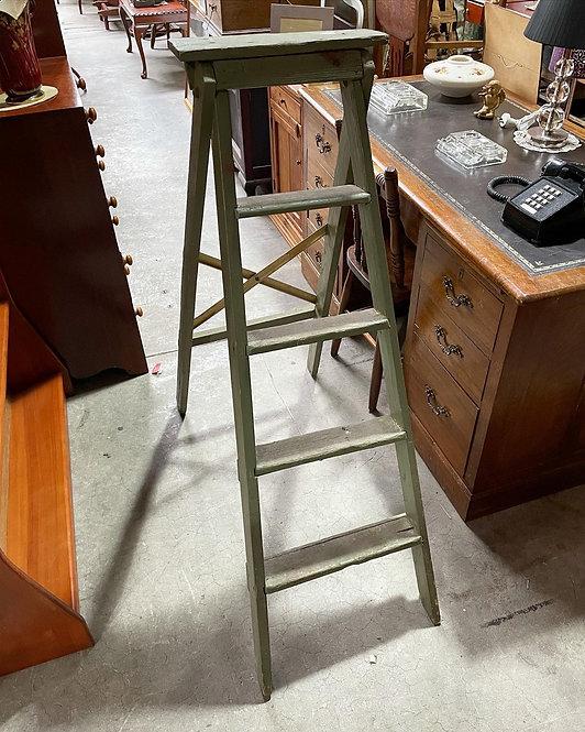 Antique Wooden 4 Step Ladder