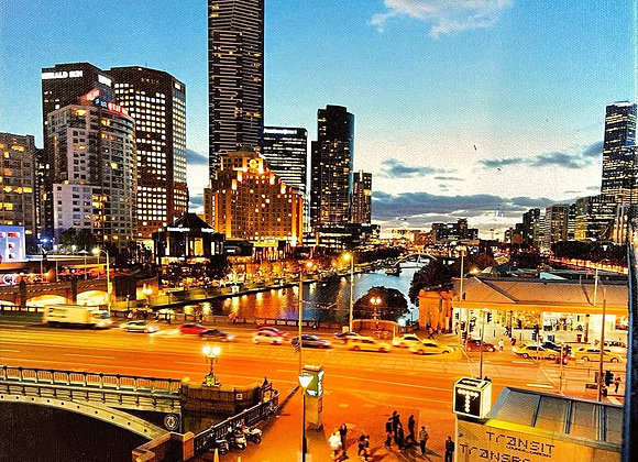 Picturesque Print of Melbourne City on Canvas by Matt Irwin Photography