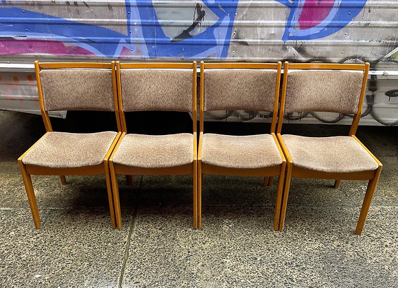 Stunning Set of 4 Retro Dining Chairs with Upholstery (Australian Made)