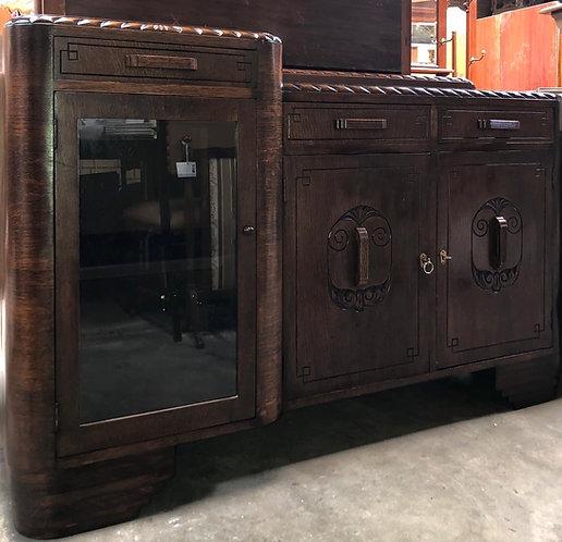 English Oak Art Deco Buffet
