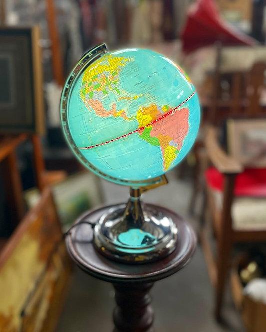 Vintage Antique Style Rotating Illuminated Desktop Globe Model No. CLKTL017