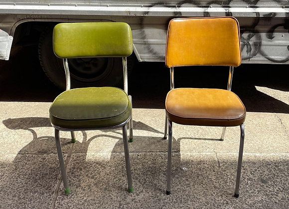 A Pair of Stunning Mid-Century Retro Chairs with Upholstery
