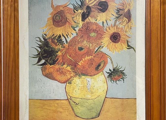 Beautiful Print of 'Sunflowers' by Vincent Van Gogh