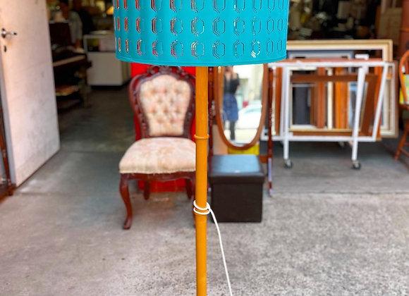 Stunning Retro Standing Lamp with Original Shade