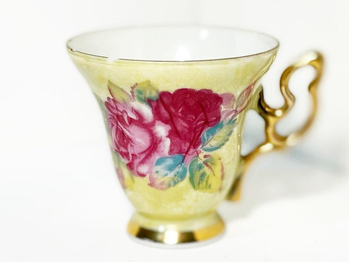 Collectible Vintage Hand-Painted Floral Cup (Japan)
