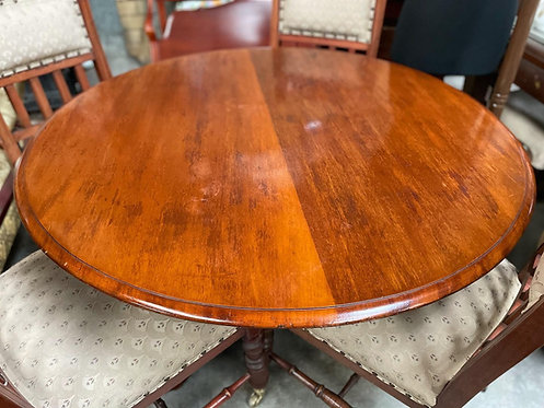 Antique Victorian Occasional Tripod Tilt Top Table from C.19th century