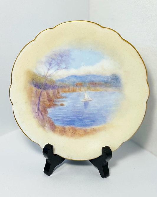 Antique Set of 3 D&C Limoges Hand-Painted Porcelain Plates from C.1900s (France)